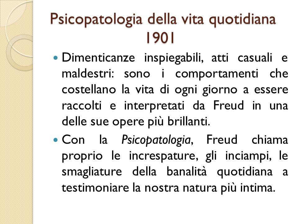 Psicopatologia della vita quotidiana 1901