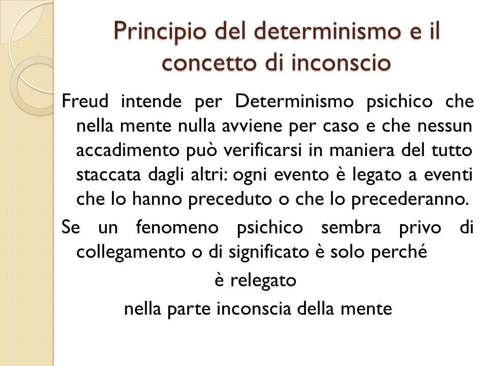 Principio del determinismo e il concetto di inconscio