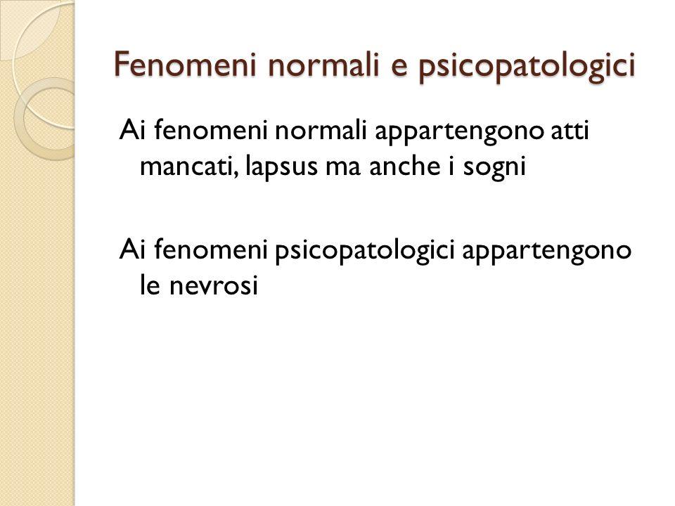Fenomeni normali e psicopatologici