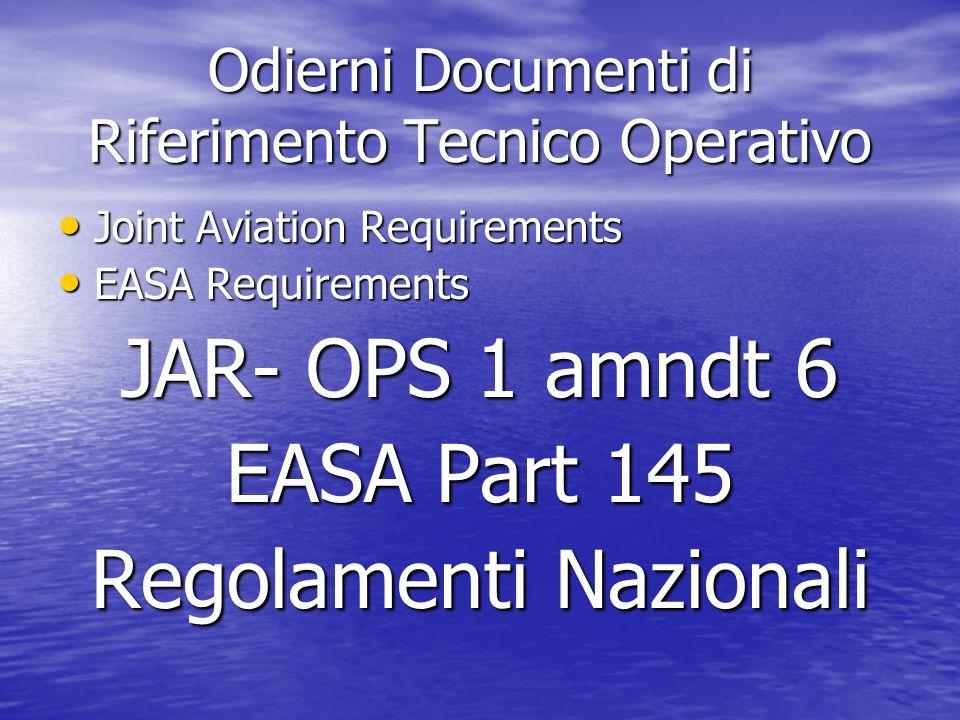 Odierni Documenti di Riferimento Tecnico Operativo