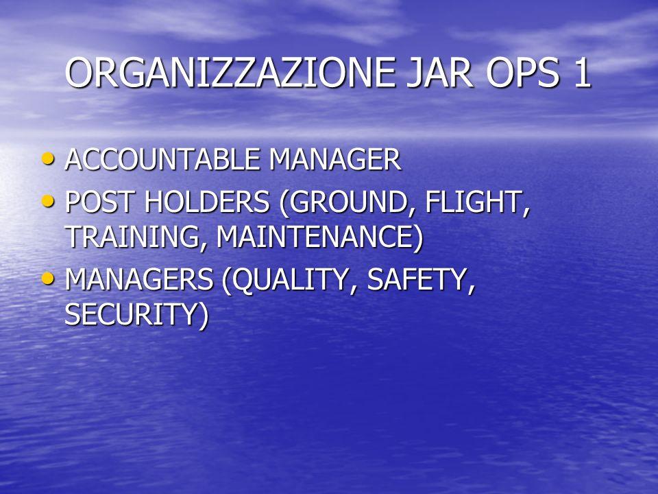 ORGANIZZAZIONE JAR OPS 1