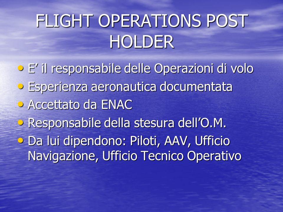 FLIGHT OPERATIONS POST HOLDER