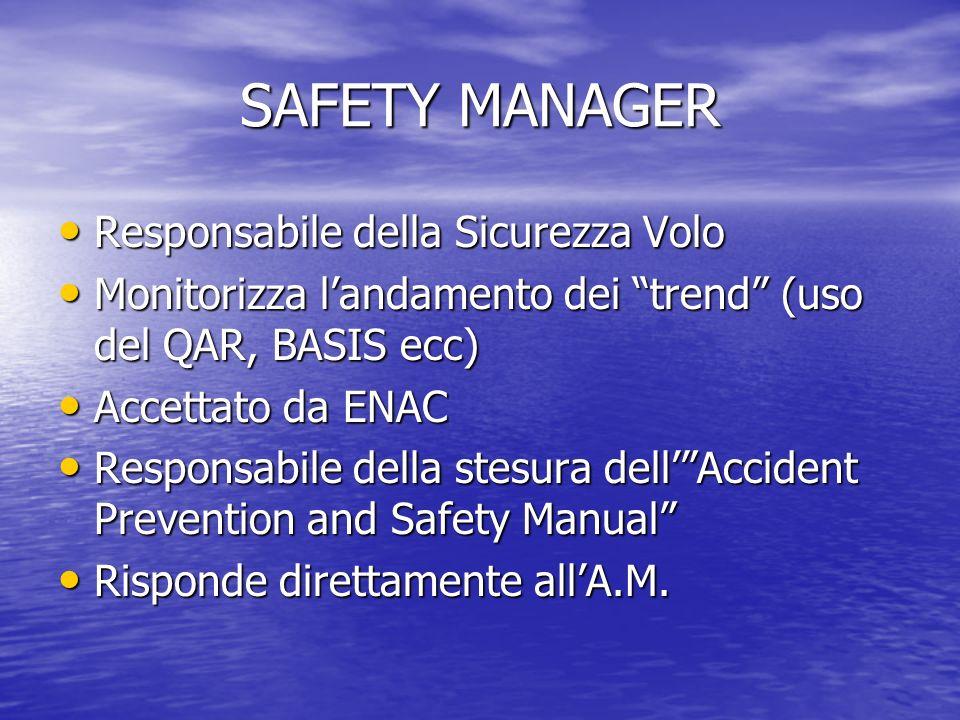 SAFETY MANAGER Responsabile della Sicurezza Volo