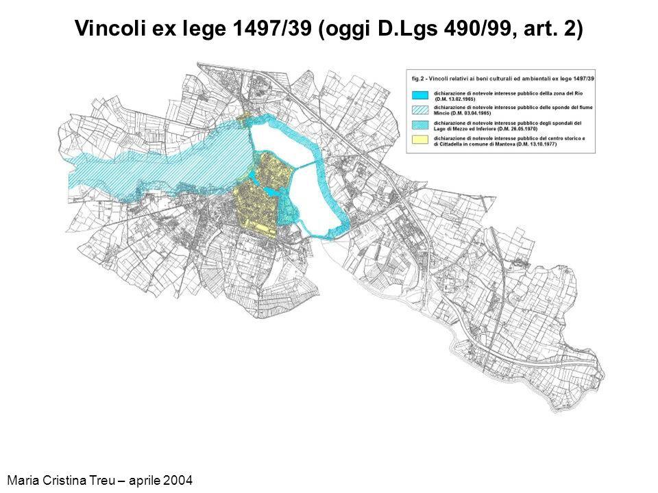 Vincoli ex lege 1497/39 (oggi D.Lgs 490/99, art. 2)