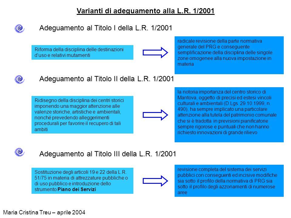 Varianti di adeguamento alla L.R. 1/2001