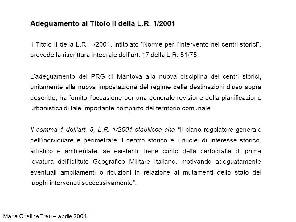 Adeguamento al Titolo II della L.R. 1/2001