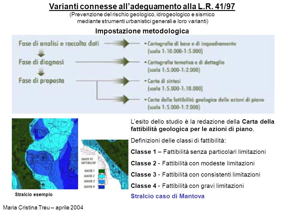 Varianti connesse all'adeguamento alla L.R. 41/97