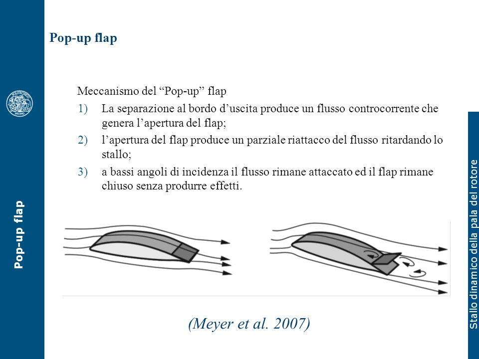 (Meyer et al. 2007) Pop-up flap Meccanismo del Pop-up flap