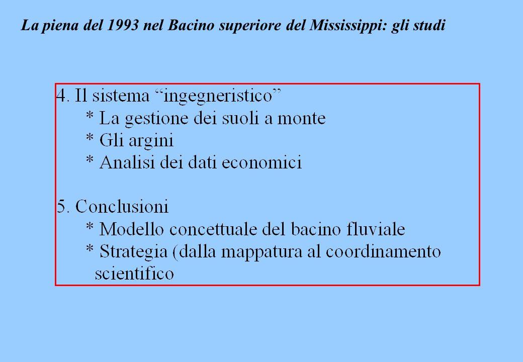 La piena del 1993 nel Bacino superiore del Mississippi: gli studi