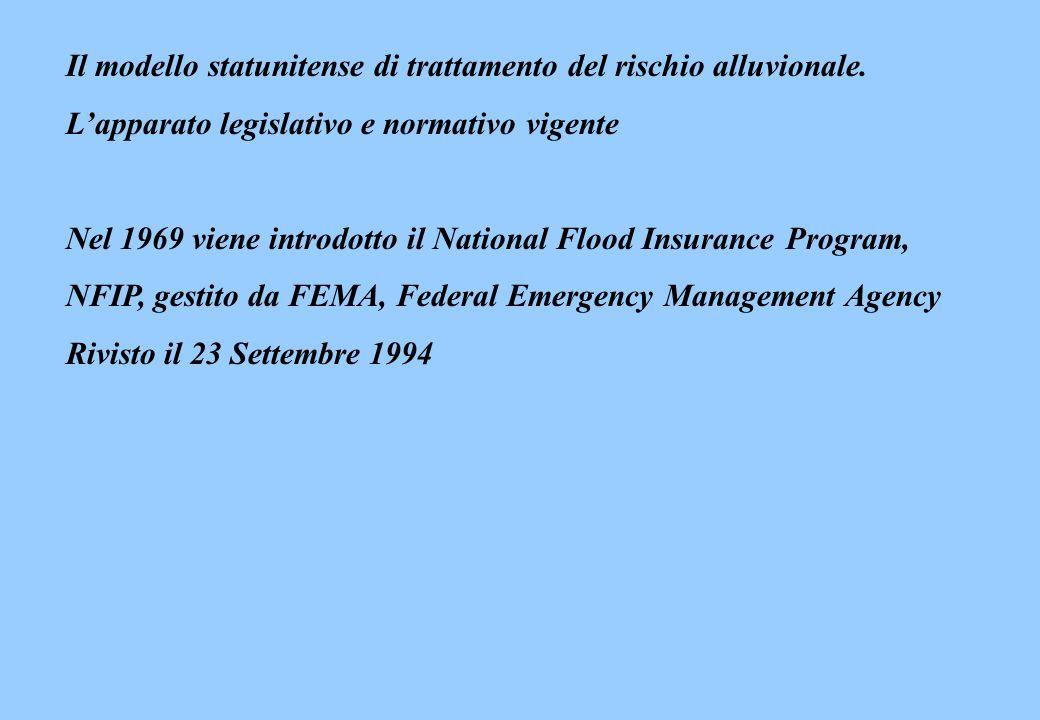 Il modello statunitense di trattamento del rischio alluvionale.