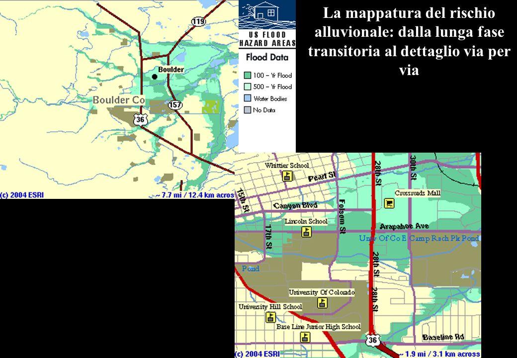 La mappatura del rischio alluvionale: dalla lunga fase transitoria al dettaglio via per via