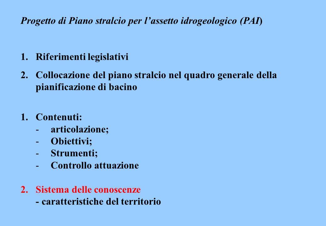 Progetto di Piano stralcio per l'assetto idrogeologico (PAI)