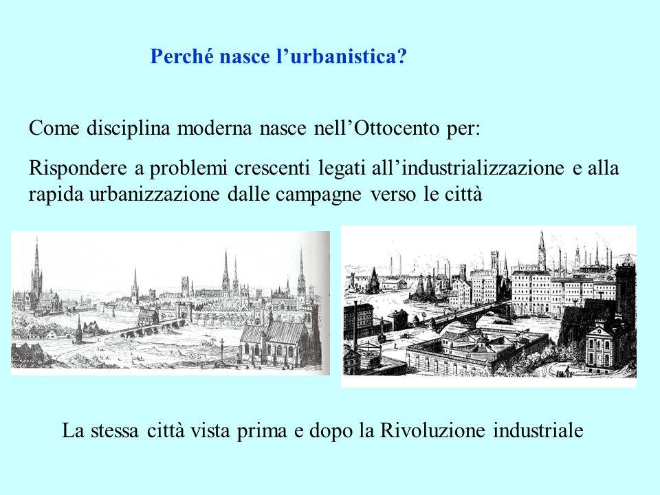 Perché nasce l'urbanistica