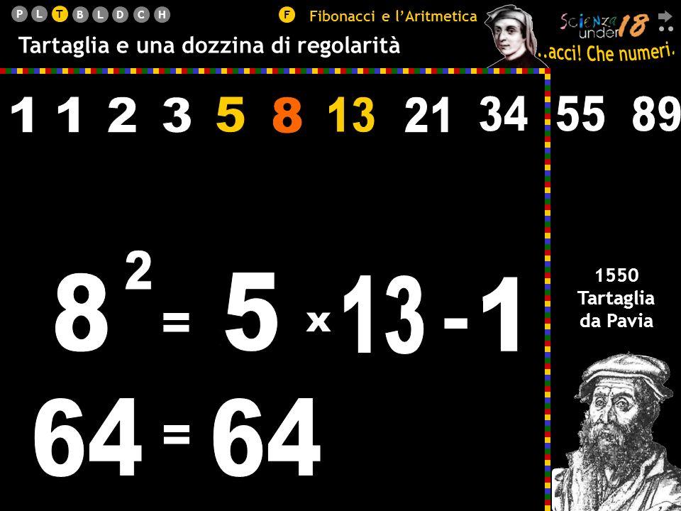 T Fibonacci e l'Aritmetica. Tartaglia e una dozzina di regolarità. 5. 2. 3. 8. 13. 21. 34. 55.