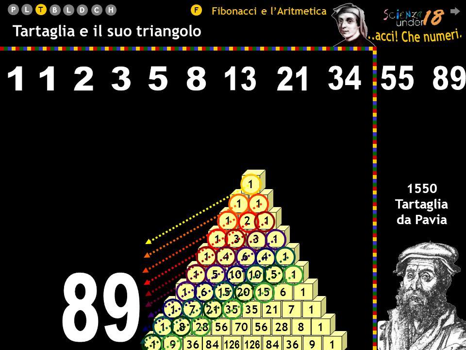 T Fibonacci e l'Aritmetica. Tartaglia e il suo triangolo. 1. 1. 2. 3. 5. 8. 13. 21. 34. 55.