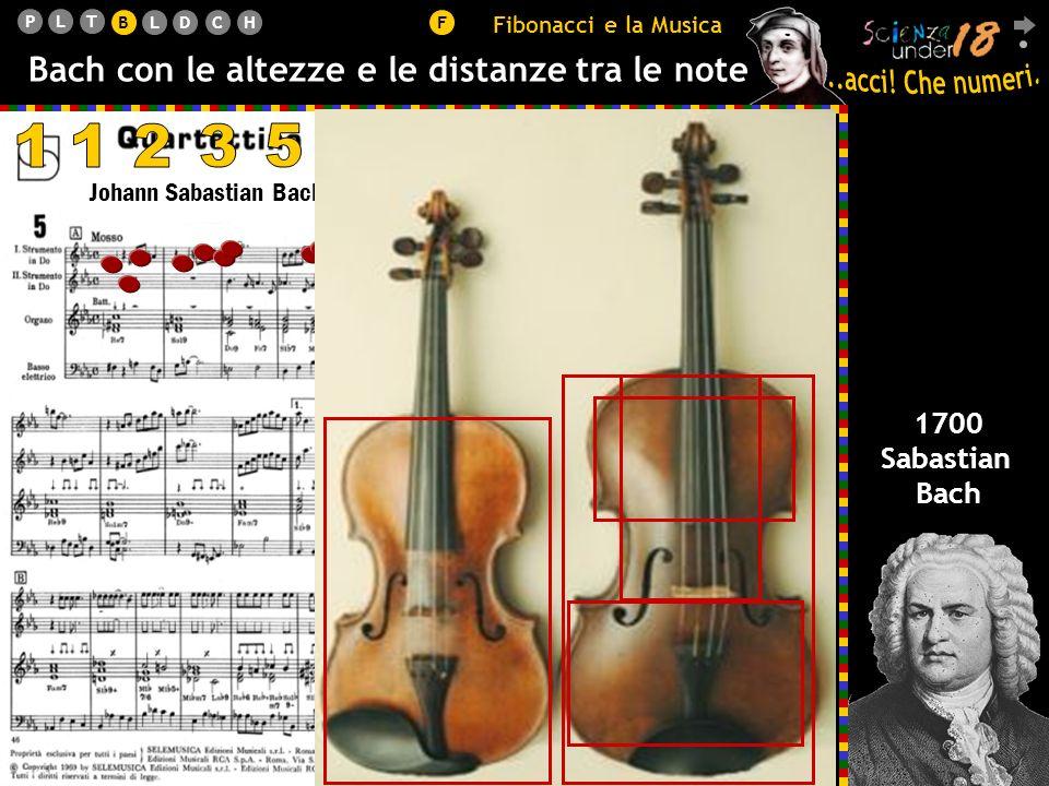 B Fibonacci e la Musica. Bach con le altezze e le distanze tra le note. 1. 1. 2. 3. 5. 8. 13.
