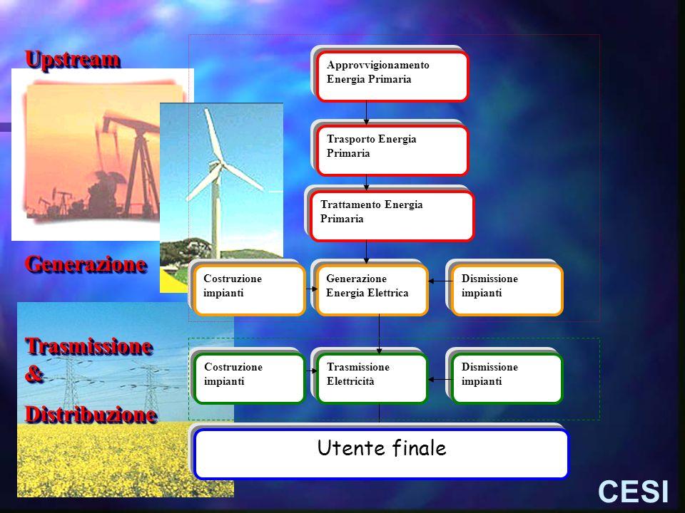 CESI Upstream Generazione Trasmissione & Distribuzione Utente finale