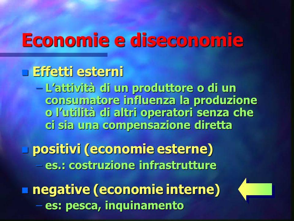 Economie e diseconomie