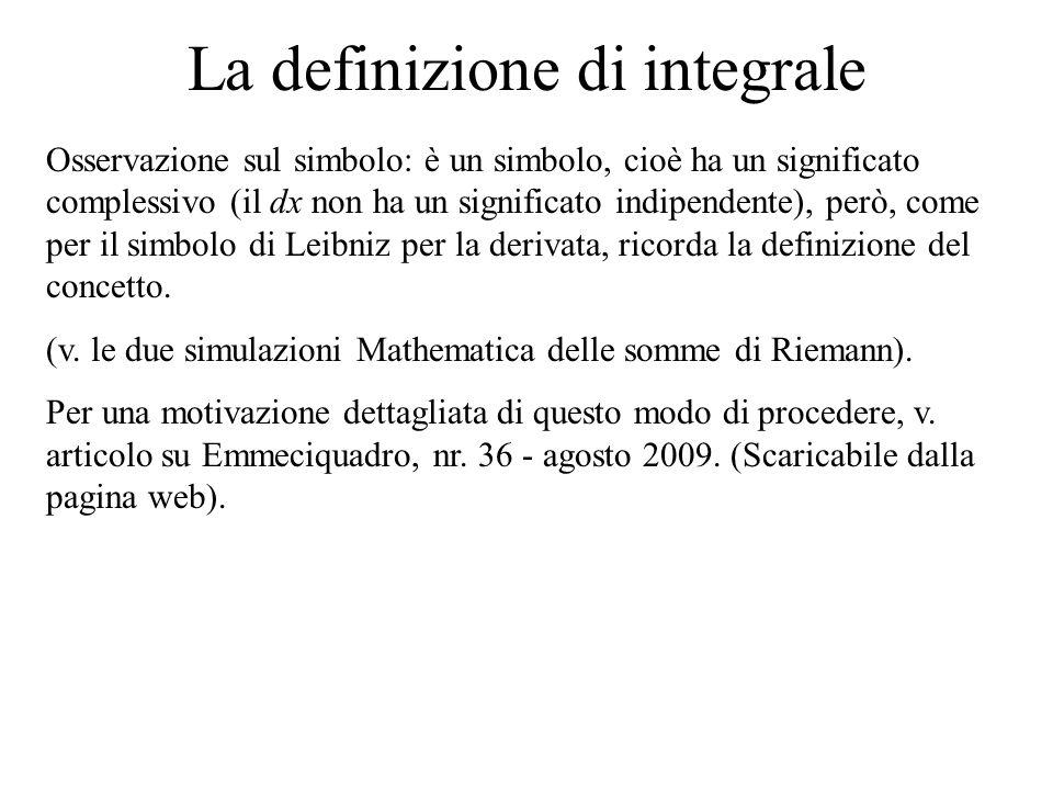 La definizione di integrale