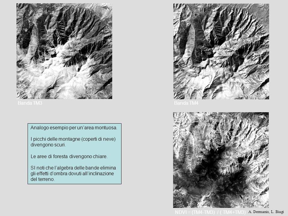 Analogo esempio per un'area montuosa.