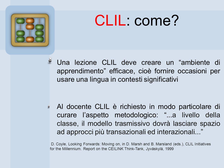 CLIL: come