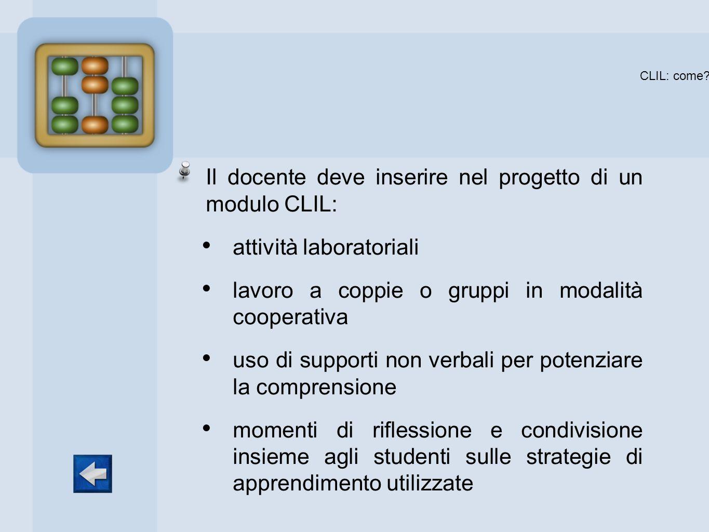CLIL: come Il docente deve inserire nel progetto di un modulo CLIL: