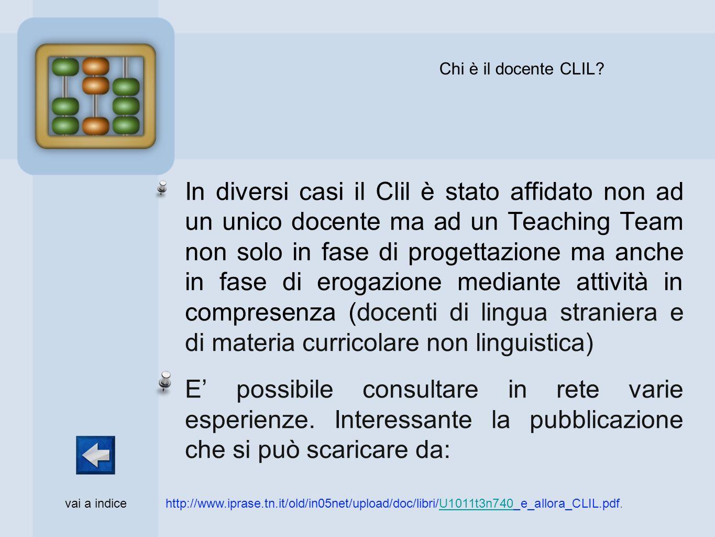Chi è il docente CLIL