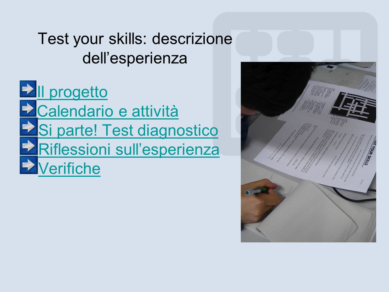 Test your skills: descrizione dell'esperienza