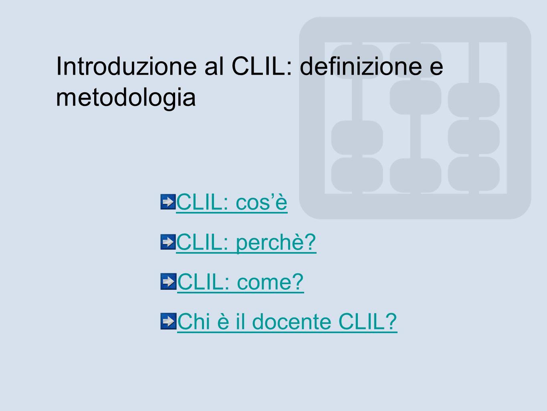 Introduzione al CLIL: definizione e metodologia