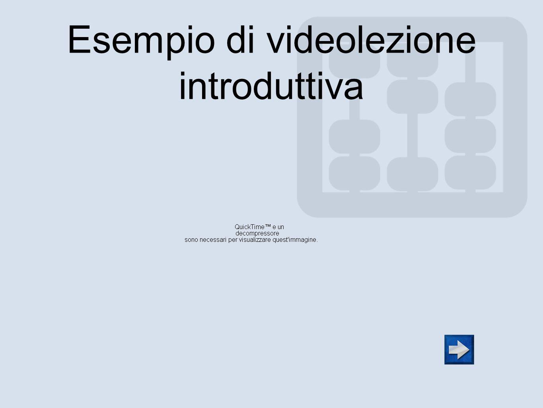 Esempio di videolezione introduttiva
