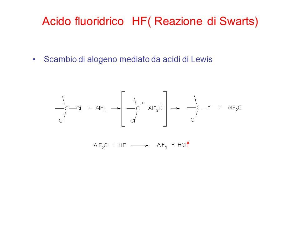 Acido fluoridrico HF( Reazione di Swarts)