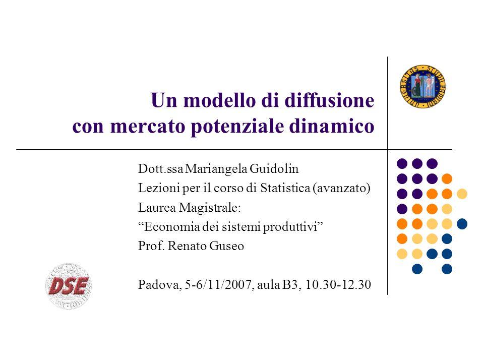 Un modello di diffusione con mercato potenziale dinamico