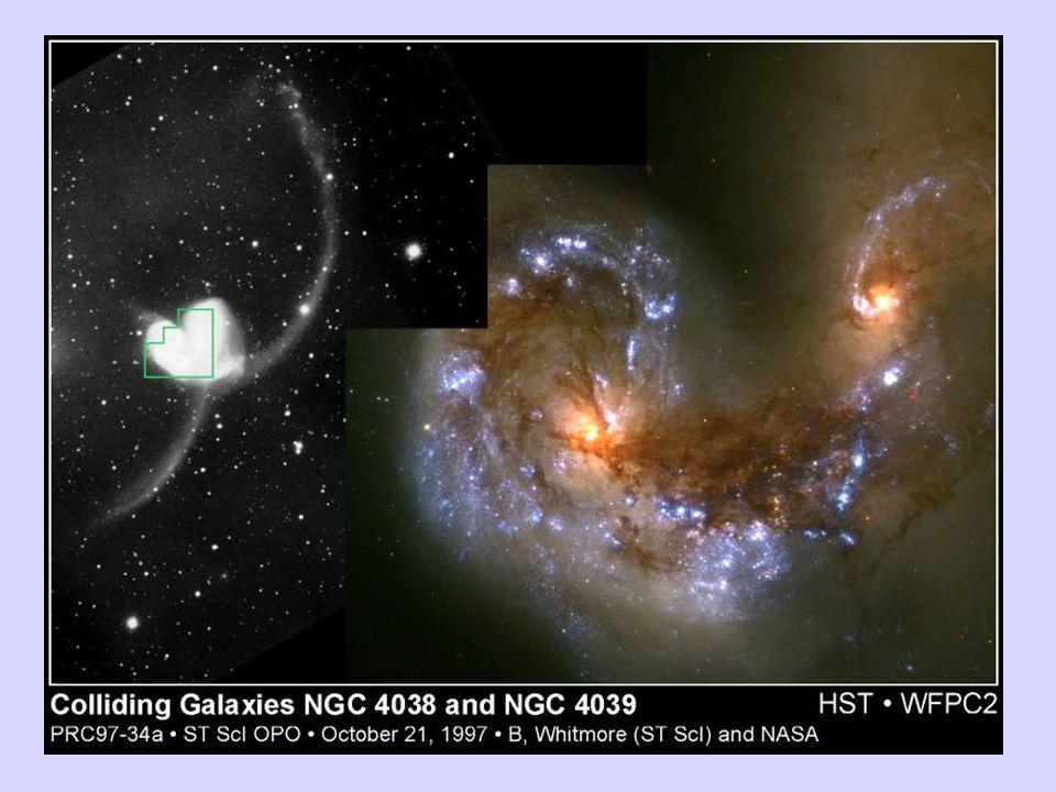 Le SuperAntennae sono uno degli esempi più spettacolari di scontri fra galassie.