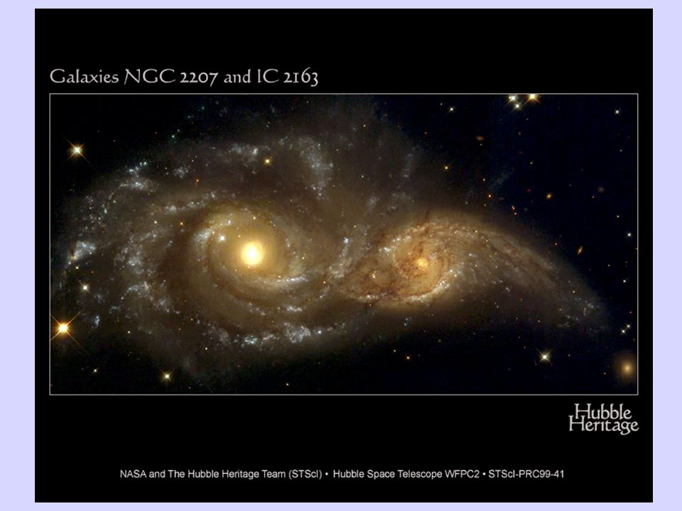 Un altro esempio di scontro fra galassie ripreso nella fase iniziale