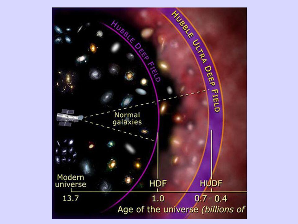 Riuscire a guardare l'Universo lontano significa per noi poter osservare com'era nella fasi iniziali della sua vita.