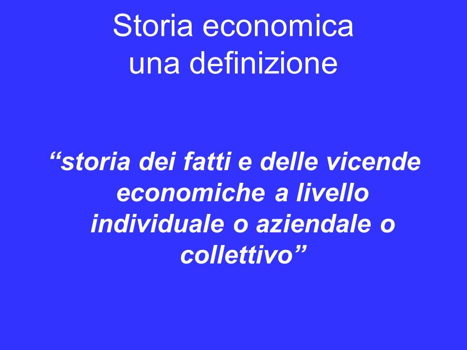 Storia economica una definizione