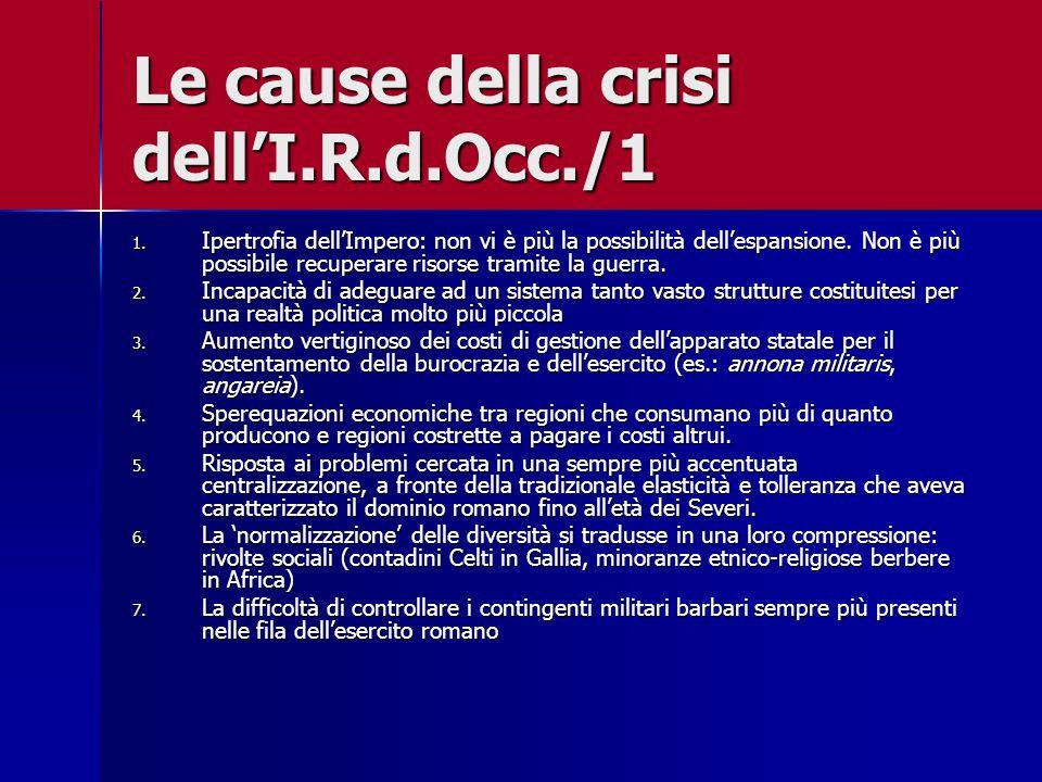 Le cause della crisi dell'I.R.d.Occ./1