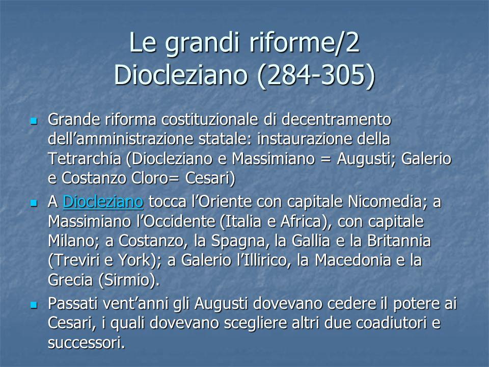 Le grandi riforme/2 Diocleziano (284-305)