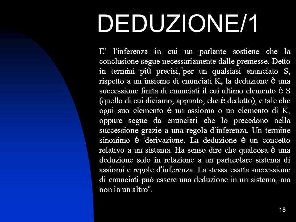 DEDUZIONE/1