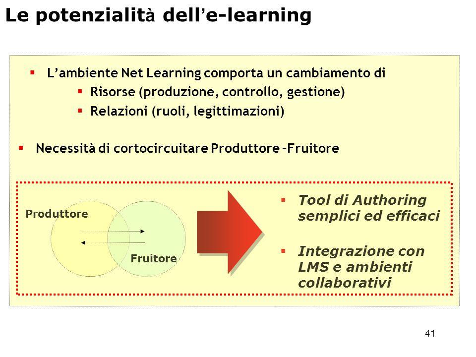 Le potenzialità dell'e-learning