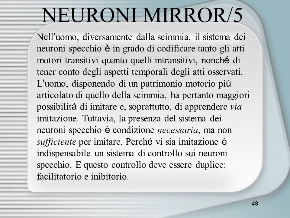 NEURONI MIRROR/5