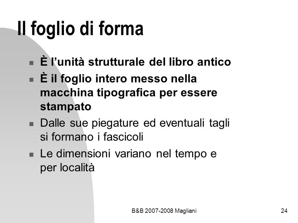 Il foglio di forma È l'unità strutturale del libro antico