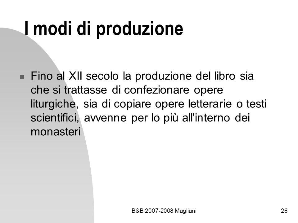 I modi di produzione