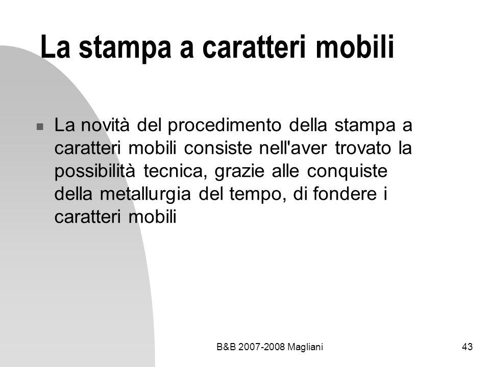 La stampa a caratteri mobili