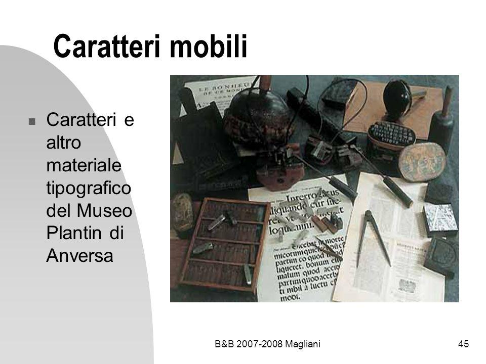 Caratteri mobili Caratteri e altro materiale tipografico del Museo Plantin di Anversa.