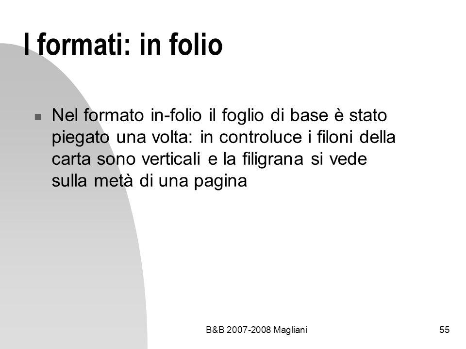 I formati: in folio