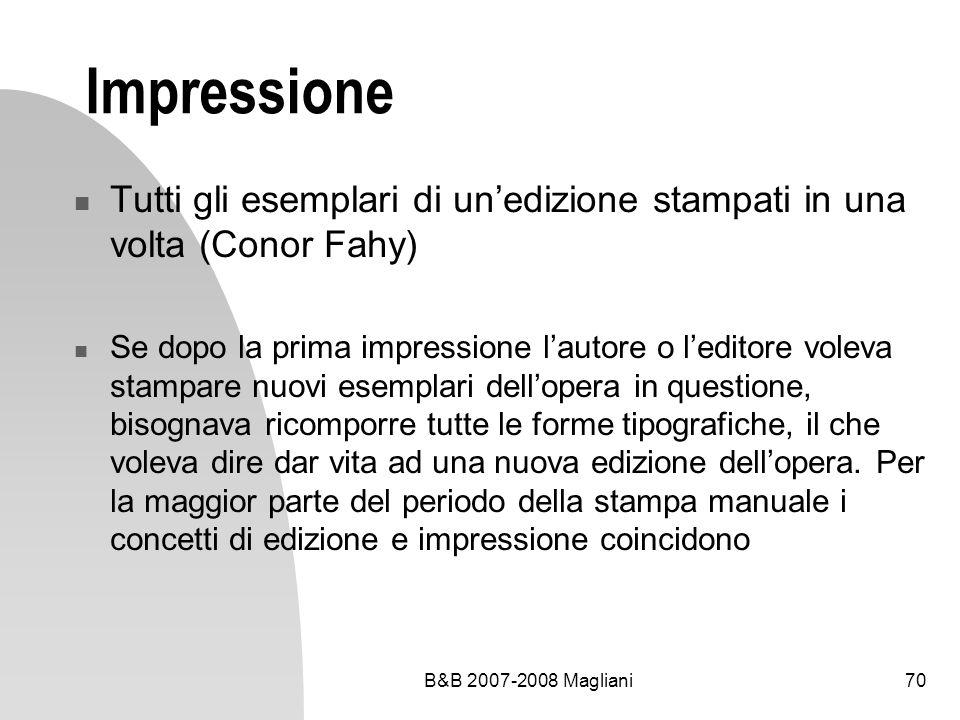 Impressione Tutti gli esemplari di un'edizione stampati in una volta (Conor Fahy)