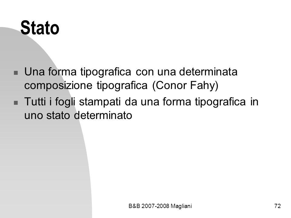 Stato Una forma tipografica con una determinata composizione tipografica (Conor Fahy)