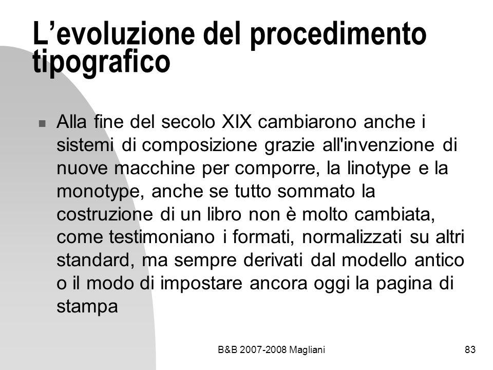 L'evoluzione del procedimento tipografico