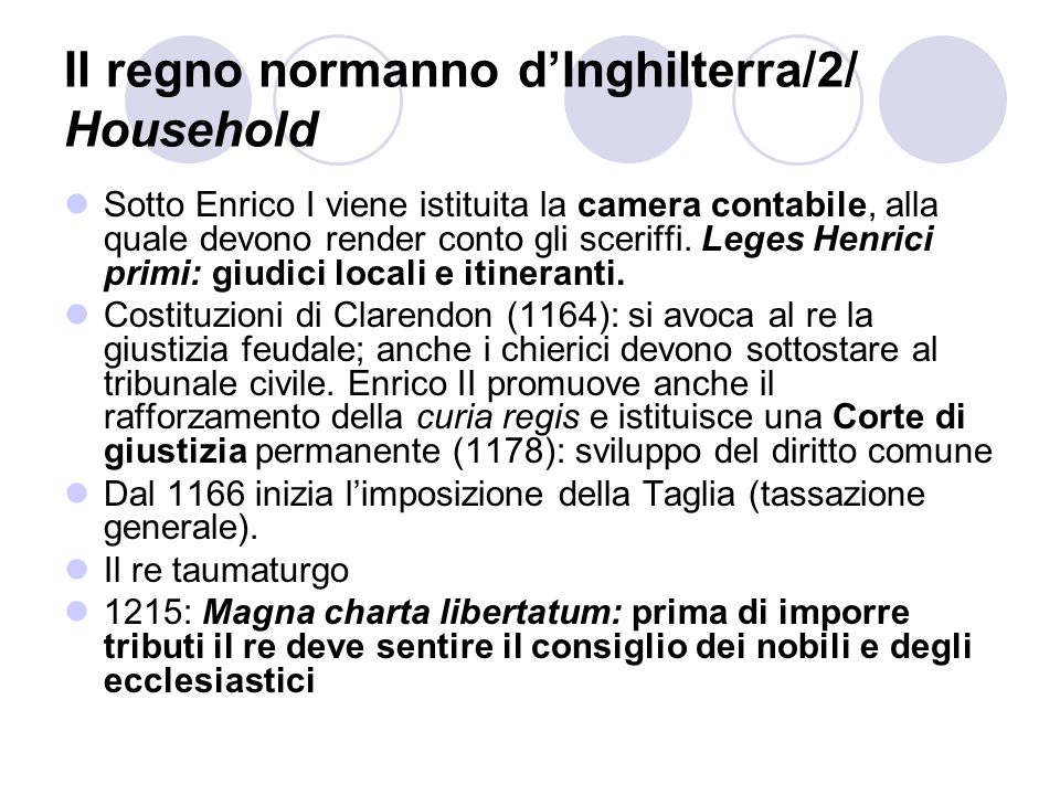 Il regno normanno d'Inghilterra/2/ Household